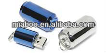 2012 top trend metal usb flash drive !Hot sell !Real capacity!red/blue 100% Full Capacity -Free Sample