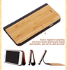 New factory wooden leather wallet case for iphone 6