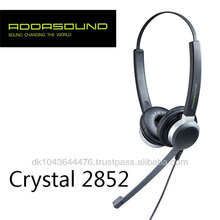 World-Leading Wired Dual-Mics Noise-cancelling Headset for Call Centers and Offices Crystal 2852