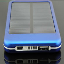 5000mah portable solar panel charger for cell phone with flashlight