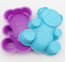 komik ayı şeklinde silikon kek kalıpları silikon yılbaşı sabun kalıpları
