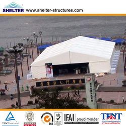 20x20 250 people 2013 latest design a shape aluminum alloy white pvc fabric roofl big arabic tent