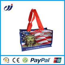Low price factory supply silk print shopping bag