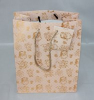 Pink color art paper gift bag