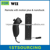 Remote and nunchuck for wii game controller