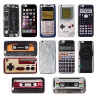 For iPhone 6 4.7 Prank Retro Cassette Tape Classic Gameboy Camera Calculator 6s Soft TPU Rubber Gel silicone Phone Case Cover