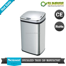 waste bin of different sizes swing top stainless steel smart touchless waste bin