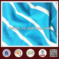 China gold knit fabric supplier, biue white cotton stripe with high quality