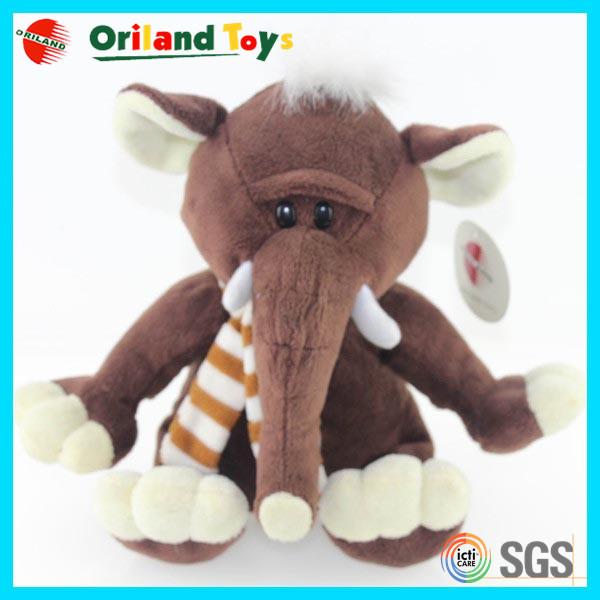 nuevo mini elefante con la bufanda suave juguetes al por mayor
