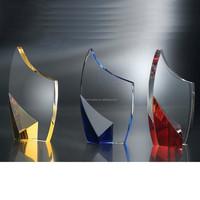 flame design optical crystal awards crystal trophy plaque craft