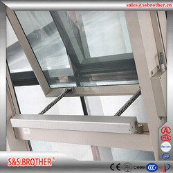Auto vent wireless keyboards sliding window actuator with rain dector automatic vention control