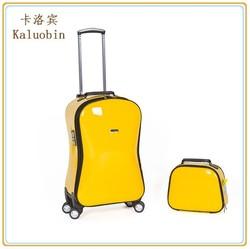 Rolling Travel Luggage Bag, Travel Trolley Luggage Bag, PU Spinner Luggage
