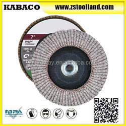 7 inch Threaded Flap Disc Aluminum T29 Conical For Metal