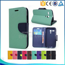 Hot sale Mixed colors pu leather flip cover case for Karbonn A1