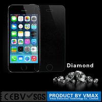 Factory custom fashion diamond screen protector for apple iphone 5,5s screen protector