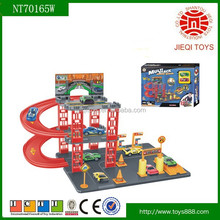 High demand products parking lot toys for child with 2 PCS alloy sliding car