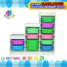 Stair Shape Children Cabinets Kindergarten Furniture Wooden Toy Cabinet(XYH-0030)
