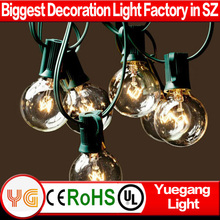 UL cetificited 8m 25 led outdoor clear bulb G40 Christmas string light