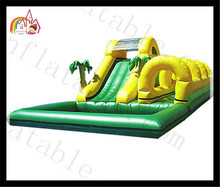 Backyard Kids Residential Inflatable Water Slide Wet Dry Bounce House Pool Junbo Water Slide&Slip Inflatable