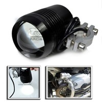 BJ-SPL-001 Custom 12V Black 30W CREE U2 LED Laser Gun Day Headlight Motorcycle Dirt bike waterproof Spot Light