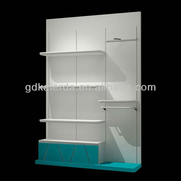 Tag re murale en bois avec tiroirs support d 39 affichage id for Etagere murale avec tiroir