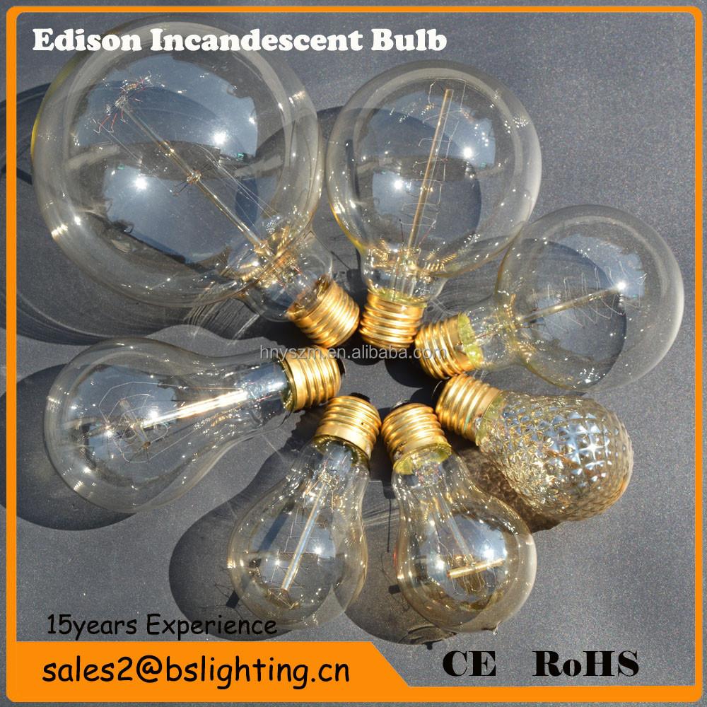 Vintage edison bulb antique edison light bulb carbon for Buyers choice light bulbs