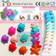 Fashion Silicone Starfish Pendant Kids Charms Wholesale