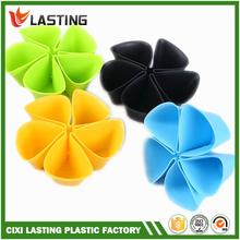 Multi-function Plastic Colorful Flower Style Desktop Storage Box