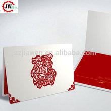 Hermoso de papel plegable tarjeta de felicitación tarjeta del arte de papel de impresión