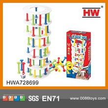 Interesting plastic stacking blocks children play toy entertainment