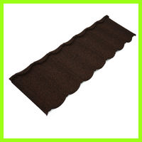 China synthetic heat insulation curved aluminium roof tile