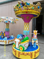 outdoor play kiddie ride 3 seats mini carousel for sale