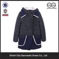Caliente venta de lana barato los abrigos de invierno informal para mujeres
