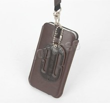 Wrist lanyard leather case for iPhone 4 case