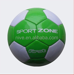 Promotional soccer ball/football standard size 5# 4# machine stitched PVC PU/PVC leather material brand logo custom
