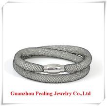 High quality fashion white resin crystal bracelet 2014 new trend bracelet