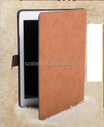 Wholesale PU leather cases for ipad 4, for ipad 4 leather smart case magnetic case