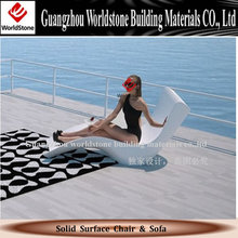 hot selling acrylic deck chair marble reclining chair