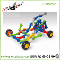 Children Plastic Toys Stick Building Bricks Kart Shape Tube Cutting Blocks
