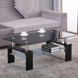 Sala de estar mobiliário moderno vidro mesa de café barato mesa central para venda, vidro café / mesa de chá com pernas de madeira