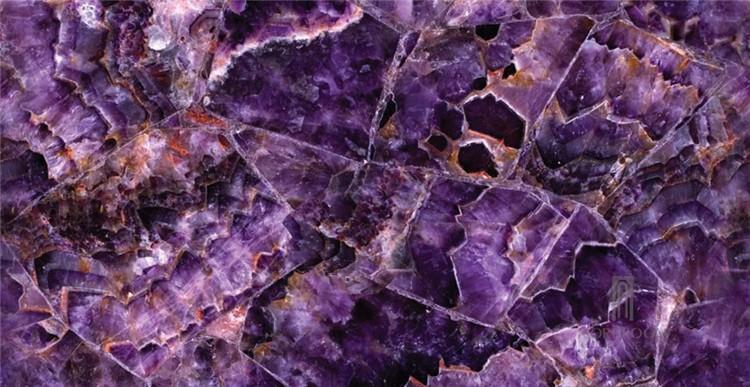 Purple Onyx Slabs : Purple onyx backlit glass laminated panel