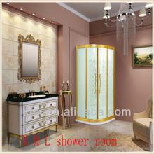 New fashione design Glode finished Aluminum frame shower cabinet/room