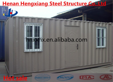 Durable safe steel frame container homes/container house/shiping container home for sale