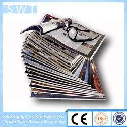 softcover magazine catalogue printing for wedding man and lady dress catalog