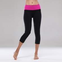 New arrival cropped design Queen Yoga top selling items high quality cheap capri pants