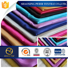 polyester heavy satin fabric for ladys dress