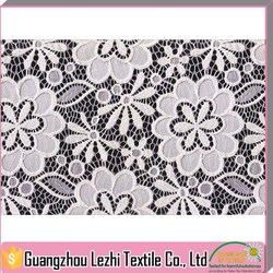 2015 New Designed Jacquard Nylon French Lace Fabric For Clothes