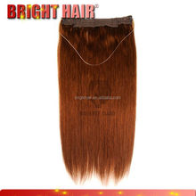 Factory price wholesale fishing line hair /easy to wear flip in kanekalon hair extensions