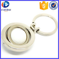 High Quality Metal Rotate golf ball Sport Key Holder for gifts