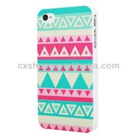 Triangle Striped Beauty Design Hard Back Shell Case Cover for Apple iPhone 4 4S